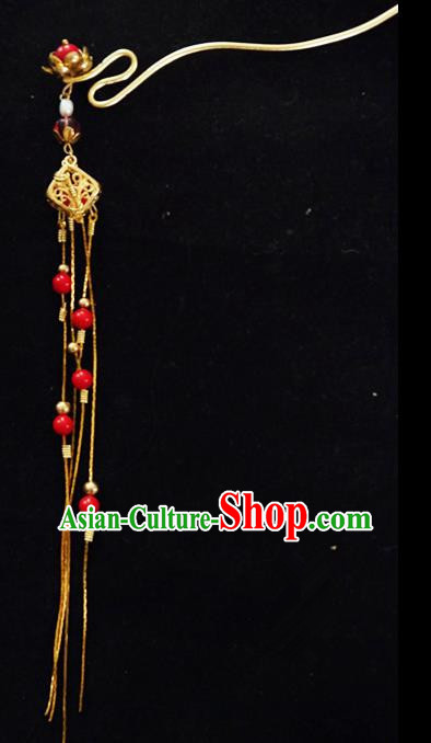 Chinese Ancient Hair Accessories Tassel Step Shake Traditional Bride Hanfu Hairpins for Women