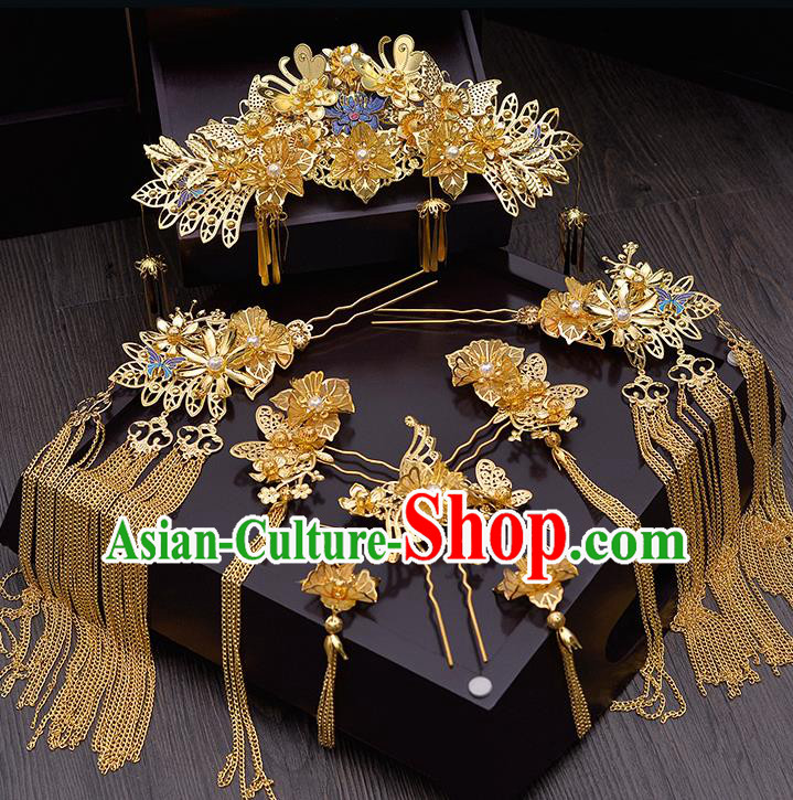 Chinese Ancient Hair Accessories Wedding Tassel Hairpins Traditional Hair Clip for Women