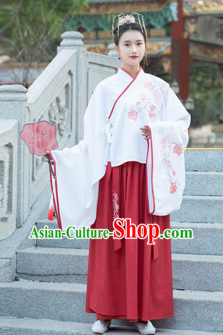 Chinese Ancient Peri Hanfu Dress Traditional Ming Dynasty Palace Princess Replica Costume for Women