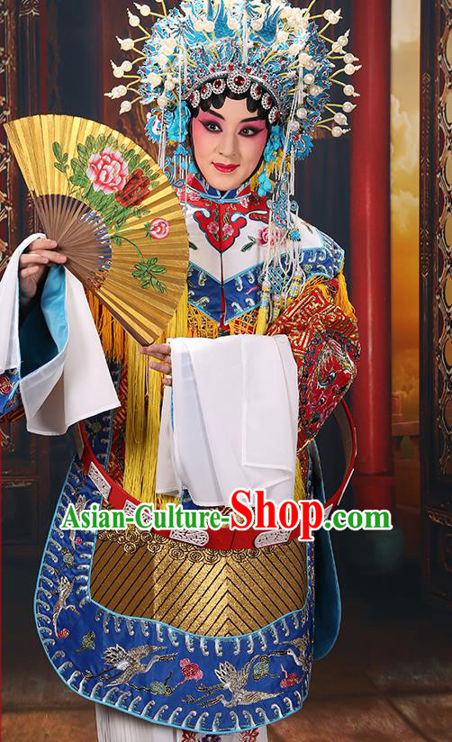 Professional Chinese Traditional Beijing Opera Costume Ancient Imperial Concubine Embroidered Robe for Adults