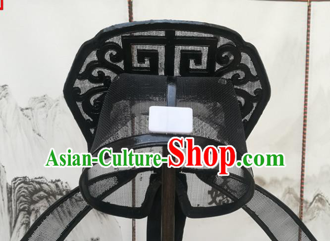 Chinese Beijing Opera Niche Hair Accessories Ancient Scholar Black Hat for Men