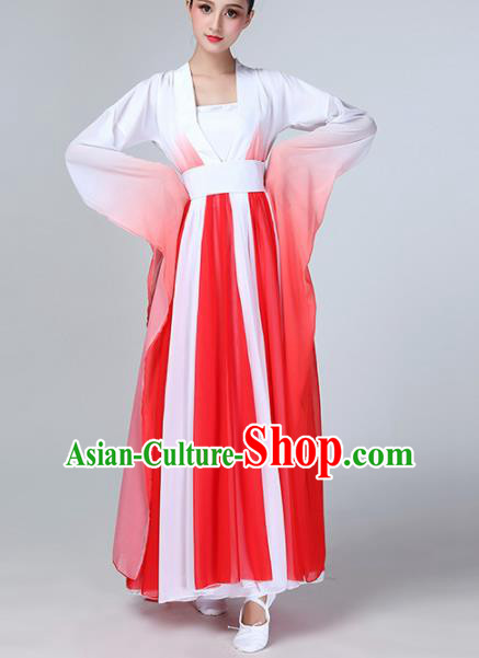 Chinese Traditional Stage Performance Costume Classical Dance Red Dress for Women