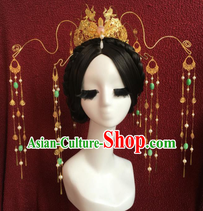 Top Grade Chinese Ancient Palace Queen Phoenix Coronet Hairpins Traditional Hair Accessories Headdress for Women