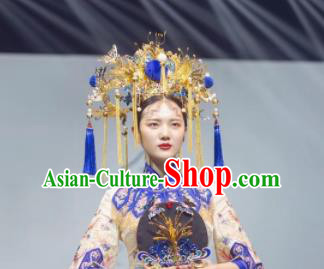 Top Grade Chinese Ancient Queen Phoenix Coronet Hairpins Traditional Hair Accessories Headdress for Women
