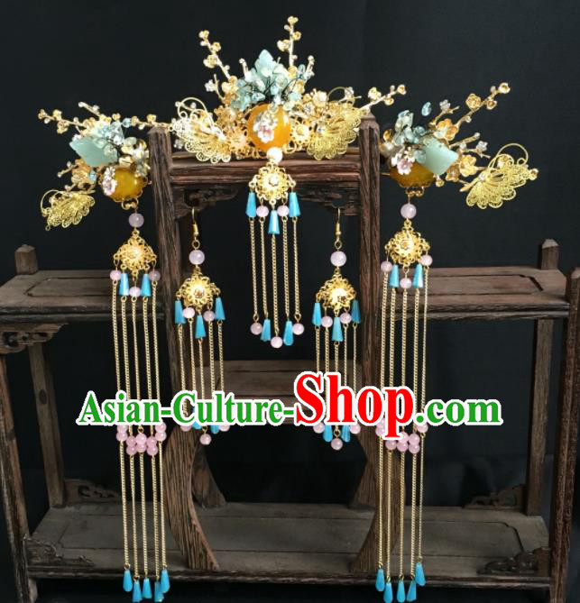 Top Grade Chinese Ancient Queen Hair Comb Hairpins Traditional Hair Accessories Headdress for Women