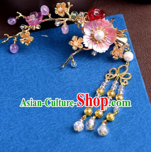 Handmade Chinese Ancient Princess Hair Claws Hairpins Traditional Hair Accessories Headdress for Women