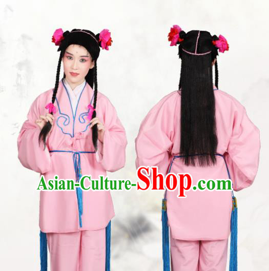 Chinese Traditional Peking Opera Clown Pink Clothing Classical Beijing Opera Attendants Costume for Men