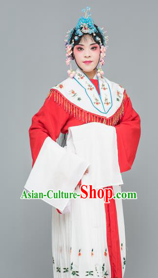 Chinese Traditional Peking Opera Peri Red Dress Classical Beijing Opera Actress Costume for Adults