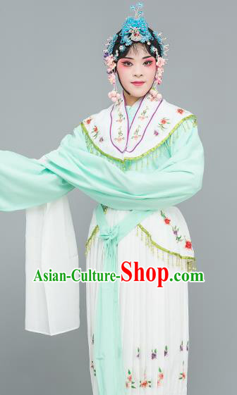 Chinese Traditional Peking Opera Peri Green Dress Classical Beijing Opera Actress Costume for Adults