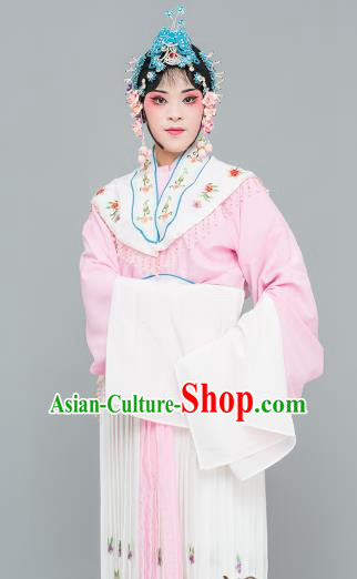 Chinese Traditional Peking Opera Peri Pink Dress Classical Beijing Opera Actress Costume for Adults