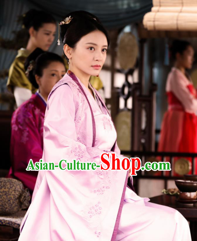 Chinese Ancient Song Dynasty Drama The Story Of MingLan Nobility Dowager Embroidered Historical Costume for Women