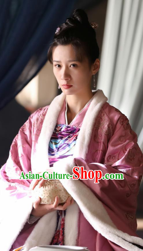 The Story Of MingLan Chinese Song Dynasty Hanfu Dress Ancient Nobility Lady Embroidered Costume for Women