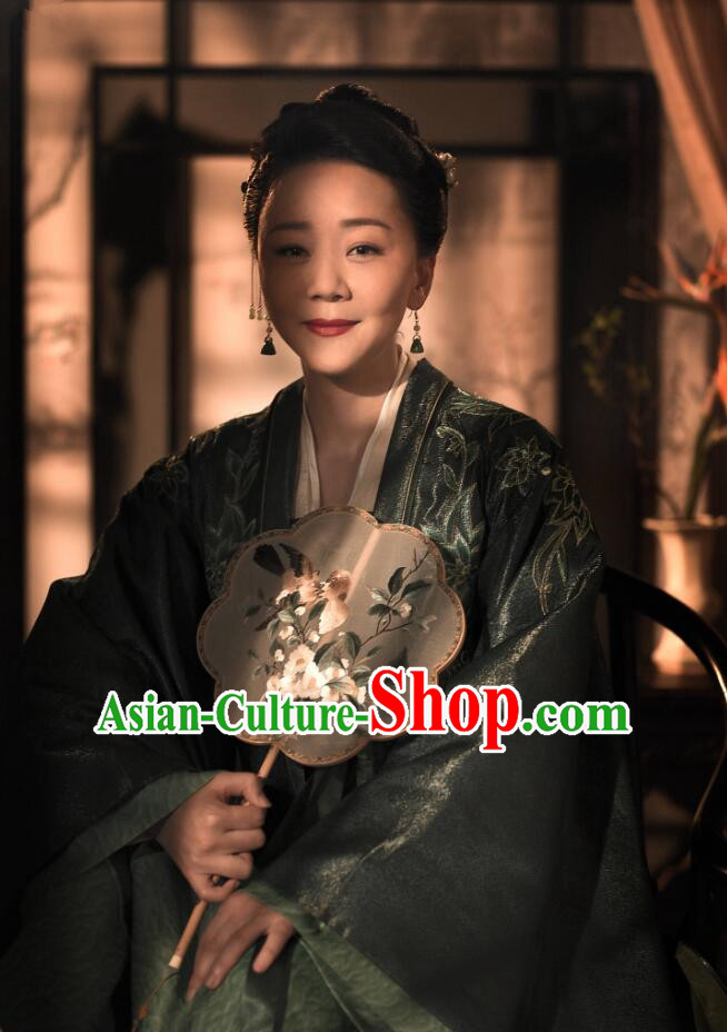 The Story Of MingLan Chinese Song Dynasty Royal Historical Costume Ancient Contessa Embroidered Hanfu Dress for Women