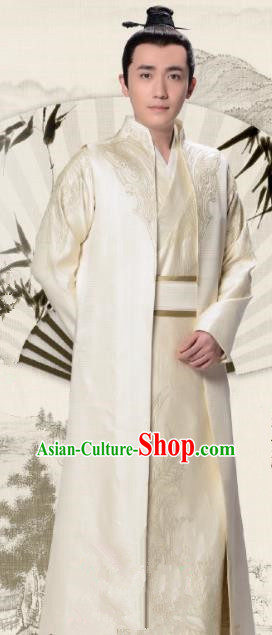 Chinese Ancient Song Dynasty Prince Clothing Drama The Story Of MingLan Nobility Childe Historical Costume for Men