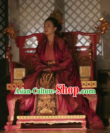 The Story Of MingLan Chinese Ancient Song Dynasty Empress Embroidered Replica Costume and Headpiece for Women