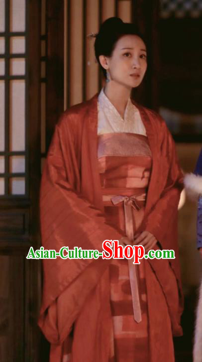 The Story Of MingLan Chinese Ancient Young Mistress Embroidered Replica Costume for Women