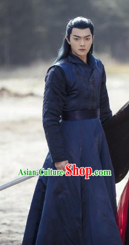 Drama Zhao Yao Chinese Ancient Young Hero Swordsman Embroidered Replica Costume for Men
