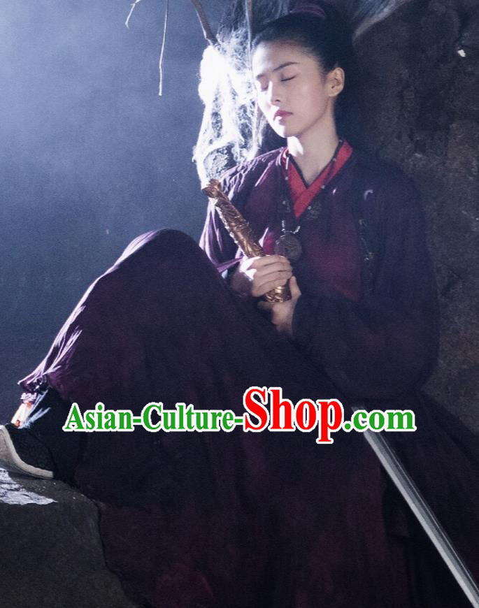 Chinese Ancient Traditional Costume Drama Zhao Yao Nobility Lady Swordswoman Hanfu Dress for Women