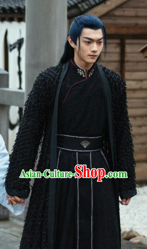 Drama Zhao Yao Chinese Ancient Swordsman Knight Li Chenlan Embroidered Replica Costume for Men