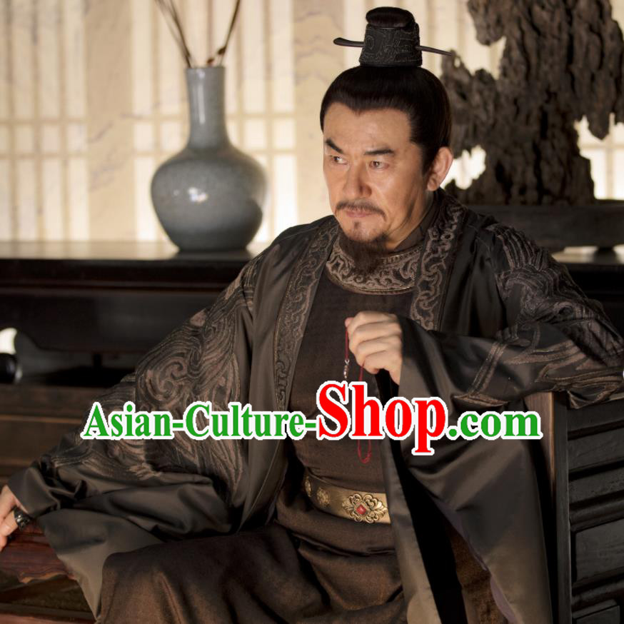 Chinese Song Dynasty Nobility Marquis Embroidered Clothing Drama The Story Of MingLan Ancient General Replica Costume for Men