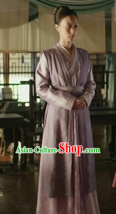 Traditional Chinese Ancient Maidservant Embroidered Dress Drama The Story Of MingLan Replica Costume for Women
