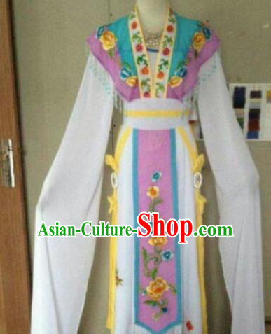 Chinese Traditional Peking Opera Artiste Costume Ancient Peri Embroidered Dress for Women