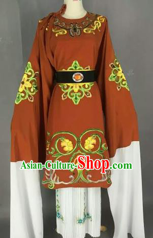Chinese Ancient Dowager Countess Embroidered Bronze Dress Traditional Peking Opera Pantaloon Costume for Women