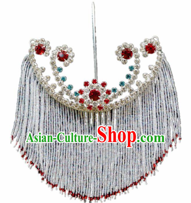 Chinese Ancient Princess Tassel Hairpins Traditional Peking Opera Artiste Hair Accessories for Women