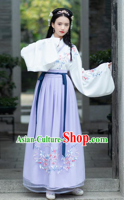 Chinese Traditional Ming Dynasty Aristocratic Lady Historical Costume Ancient Peri Hanfu Dress for Women