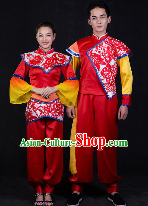 Chinese Traditional National Embroidered Folk Dance Costumes for Women for Men