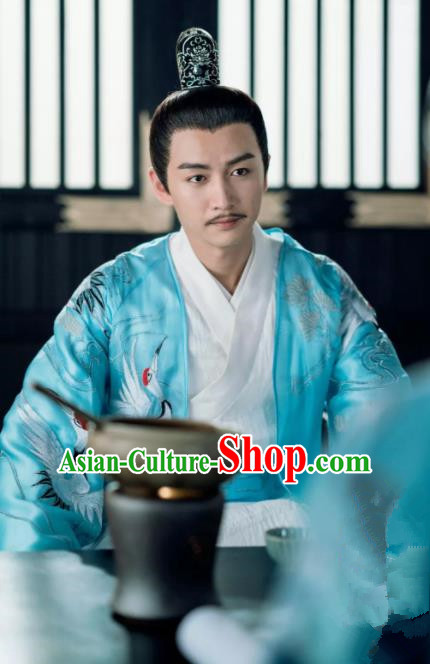 Chinese Ancient Emperor Yang Jian Clothing Traditional Sui Dynasty Majesty Embroidered Historical Costume for Men