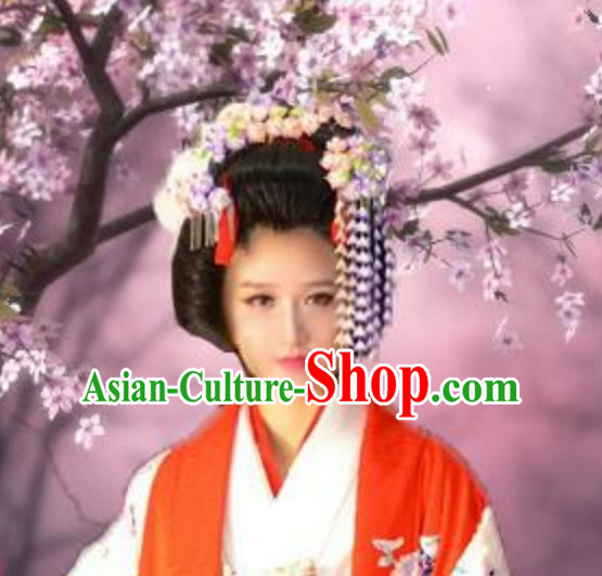 Classical Asian Hair Jewelry Handmade Flower Decoration Set