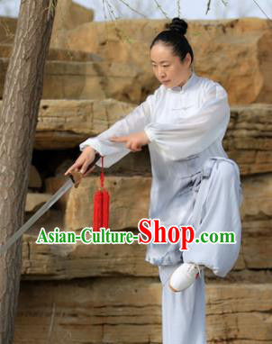 Chinese Traditional Kung Fu Costume Martial Arts Competition Tai Chi Ink Painting Clothing for Women