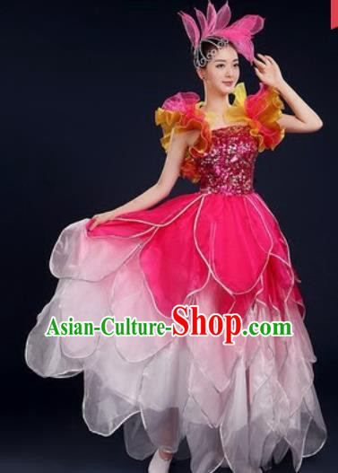 Chinese Traditional Opening Dance Dress Spring Festival Gala Stage Performance Costume for Women