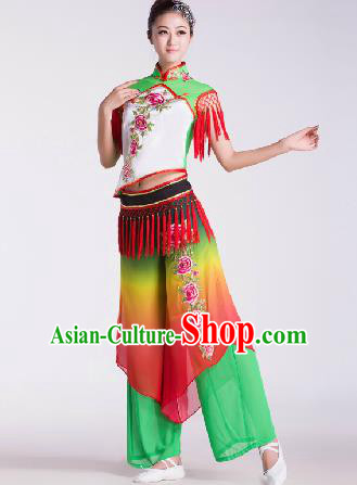 Chinese Traditional Fan Dance Costume Folk Dance Stage Performance Clothing for Women