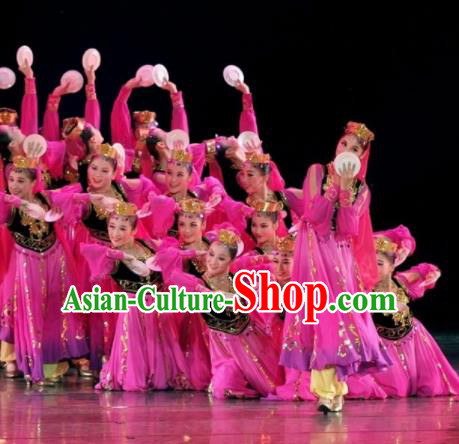 Chinese Traditional Ethnic Dance Costume Uigurian Dance Stage Performance Clothing for Women