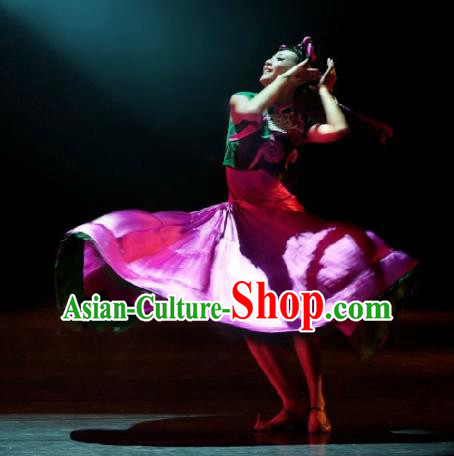 Chinese Traditional Dance Clothing Classical Dance Stage Performance Costume for Women