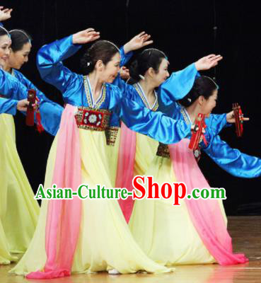 Chinese Traditional Ethnic Dance Costume Korean Nationality Dance Stage Performance Clothing for Women