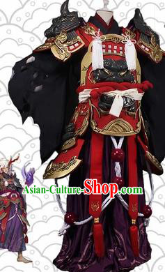 Chinese Traditional Ancient Swordsman Costume Cosplay General Body Armour for Men