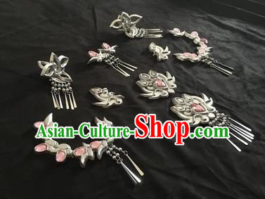 Chinese Traditional Ancient Princess Hairpins Swordswoman Hair Accessories Complete Set for Women