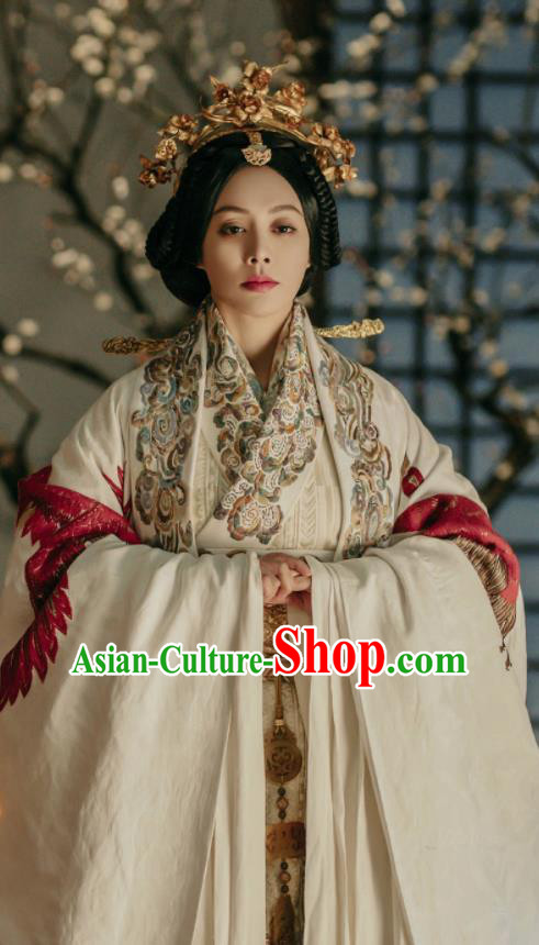 Chinese Ancient Hanfu Dress The Lengend of Haolan Warring States Period Imperial Empress Historical Costume and Headpiece for Women