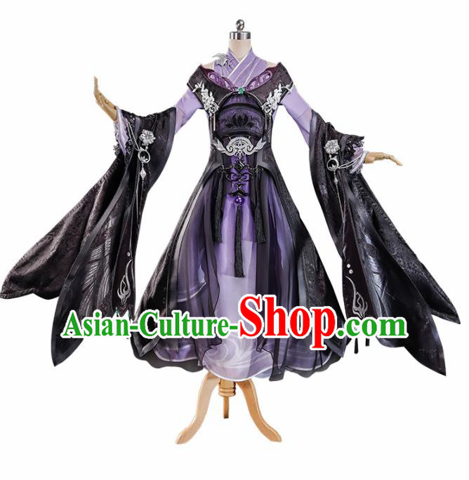 Chinese Traditional Cosplay Costume Ancient Swordswoman Hanfu Dress for Women