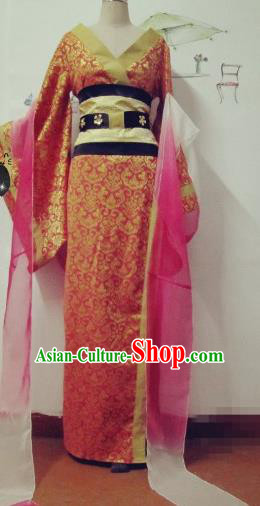 Chinese Traditional Cosplay Apsaras Costume Ancient Tang Dynasty Imperial Consort Hanfu Dress for Women