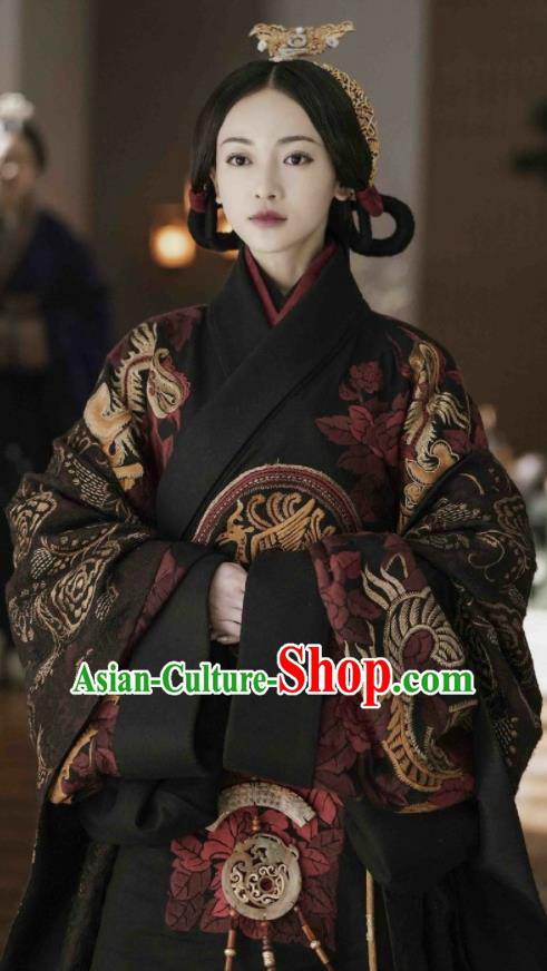 Chinese Drama The Lengend of Haolan Ancient Warring States Period Zhao State Empress Dowager Historical Costume and Headpiece for Women