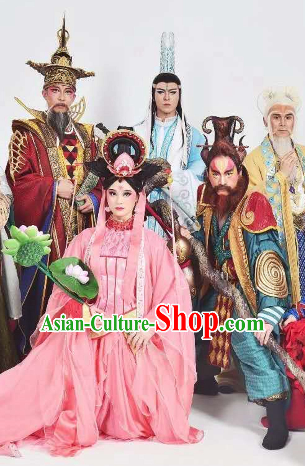 Free Shipping Brand New Ancient Chinese Eight Immortals Costumes Complete Set