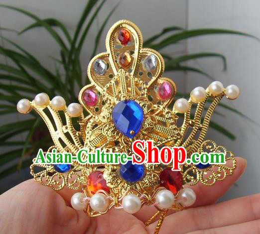 Chinese Traditional God of Wealth Hair Accessories Ancient Hairdo Crown for Men