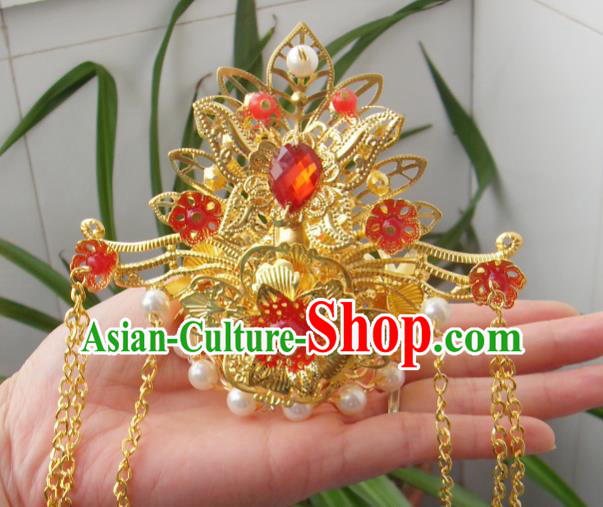 Chinese Traditional Goddess Hair Accessories Ancient Hairpins Phoenix Coronet for Women