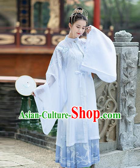 Chinese Traditional Hanfu Dress Ancient Ming Dynasty Princess Embroidered Costume for Women