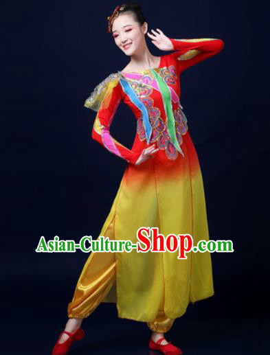 Traditional Chinese Folk Dance Drum Dance Clothing Yangko Dance Fan Dance Costume for Women