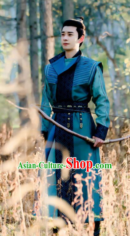 Chinese Ancient Drama Knight Hanfu Clothing Tang Dynasty Swordsman Embroidered Historical Costume for Men